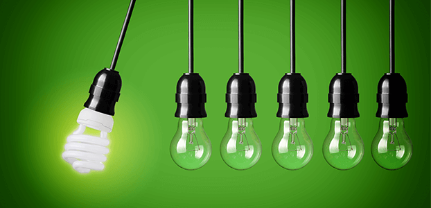 Renewable Energy Used for Efficient Light Bulbs