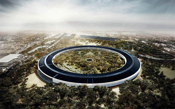 An artist's rendering of Apple's Campus 2 project in Cupertino. (Photo from City of Cupertino)