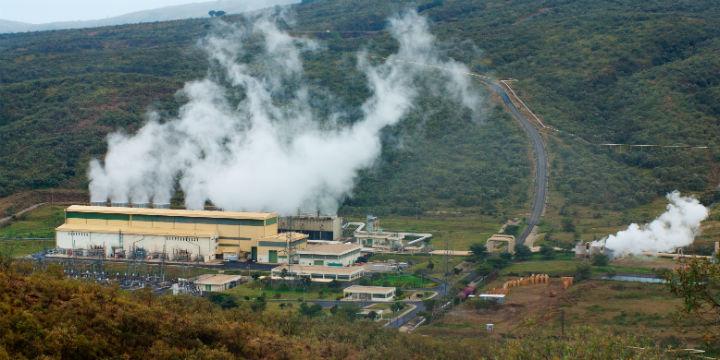 Olkaria II geothermal power plant in Kenya_720x360