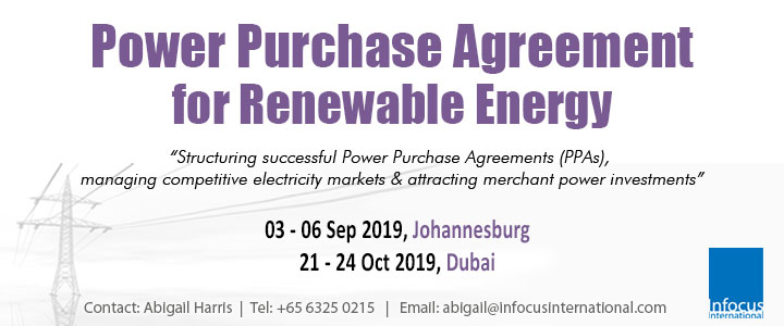 Power Purchase Agreement for Renewables