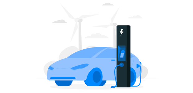 Electric Vehicle Illustration