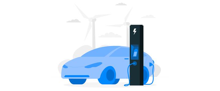 Electric Vehicle Illustration