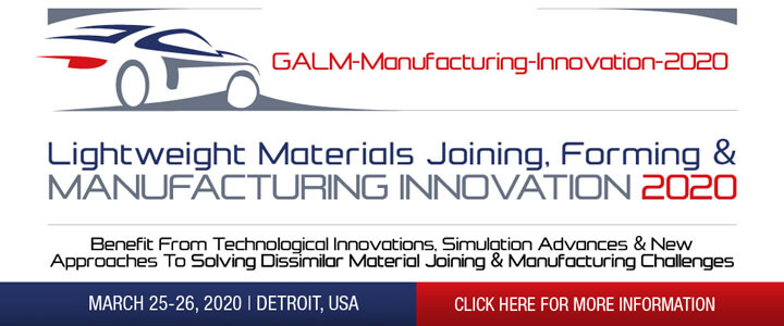 The 7th GALM Manufacturing Innovation Summit - Lightweight Materials Joining, Forming & Manufacturing Innovation 2020 Summit